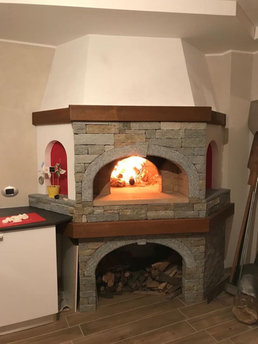 Forno A Legna Con Camino forni a legna prefabbricati per pizza e pane, forni
